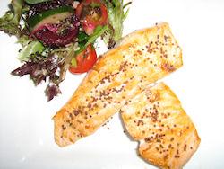 Pan Fried Atlantic Salmon & Smoked Mustard Seed